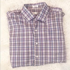 Peter Millar plaid button down shirt size XL